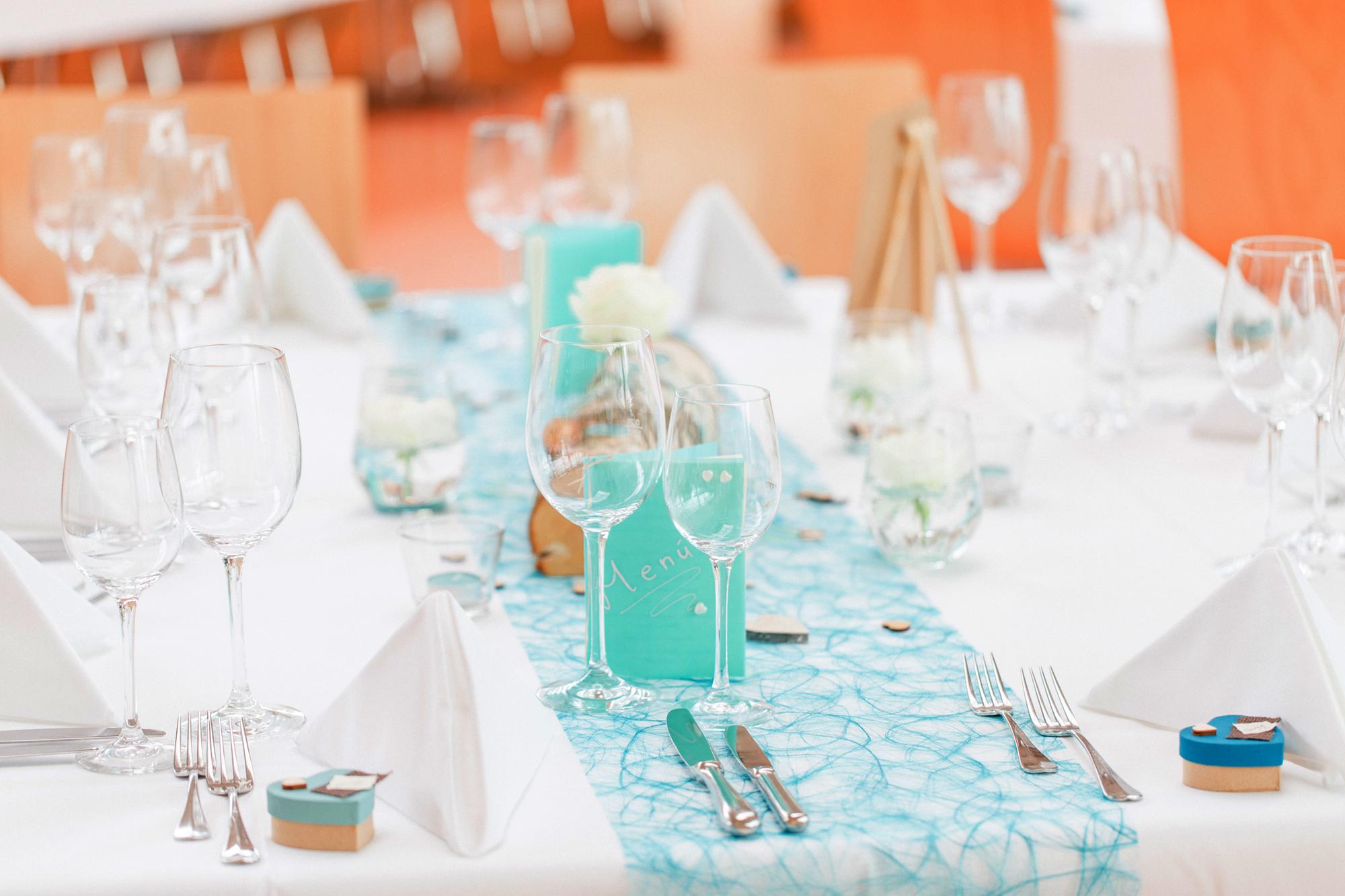 Komplette Tischdekoration Hochzeit
